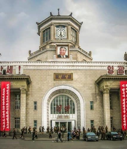 North Korean City center.