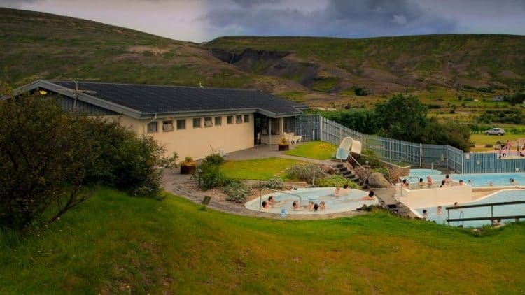 Relax in the geothermic pools of Iceland's Hotel Husafell.