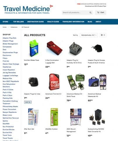 Travmed.com supplies travelers with a wide range of products for their next trip.