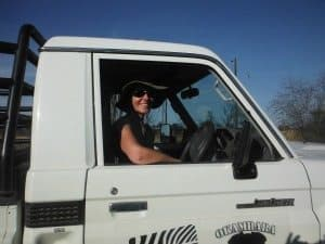 Sue McVerry with her truck