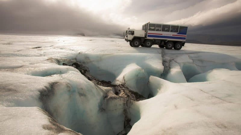 Take a super jeep up one of the largest glaciers.