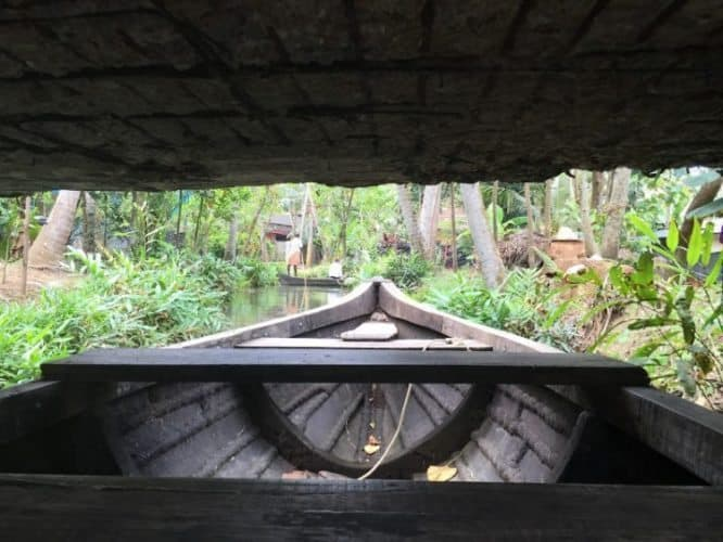 Beneath the bridge.