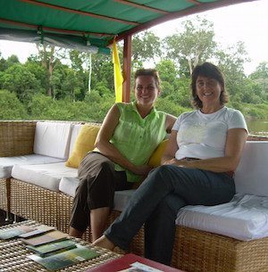 Gaye Thavisin and Lorna Dowson-Collins of WOWBorneo, who operate three boats in the River Rungan in Borneo.