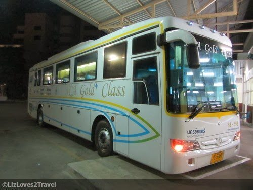 The Gold Class Bus out of Bangkok.