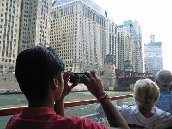 The Chicago Architecture Foundation's River Cruise, a 90-minute tour around the city.