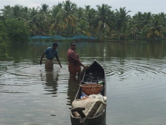 Local men going to work on the canal.