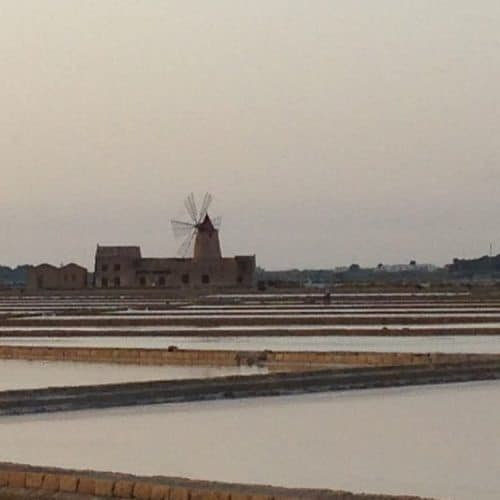 Saline Ettore e Infersa, a salt making area.
