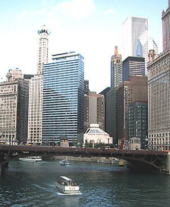 A view from the River Cruise where visitors can learn all about the people, buildings and history of Chicago.