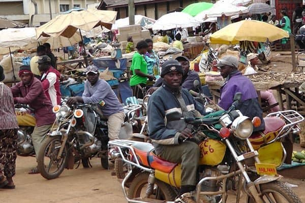 A Bikers Market in Africa