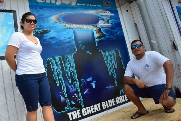 Jose Vivas, Manager of the Amigos Dive Shop in San Pedro, Belize provides daily trips to the Great Blue Hole and Lighthouse Atoll.