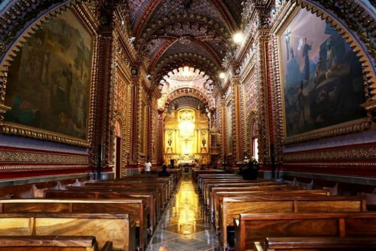 A cathedral in Morelia, Mexico.