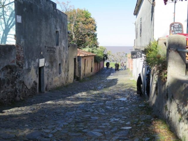 The Calle de los Suspiros, or Street of Sighs, is one of Colonia's most famous streets.