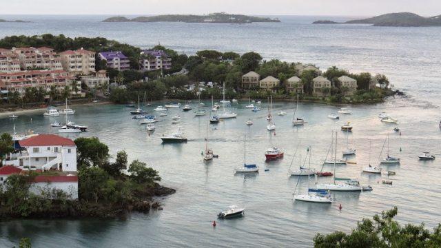 Overlooking the beautiful Cruz Bay.