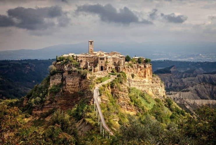 Civeta di Bagnoregio. A part of the dynamic landscape in the province of Viterbi in central italy.