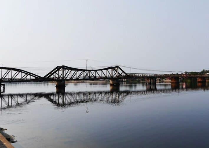 bridge to Kampot, Cambodia.