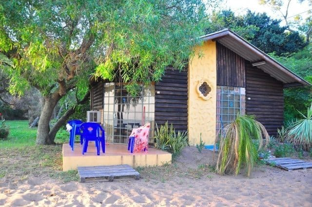 A cozy cabana in the beach at San Bernadino, Paraguay.