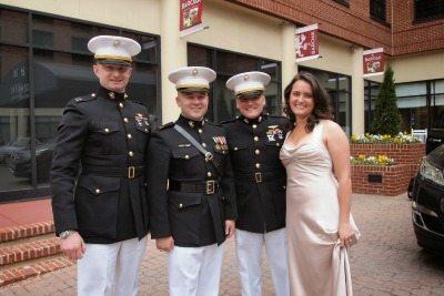 Midshipmen and friend gather in Annapolis, Maryland. Max Hartshorne photo.