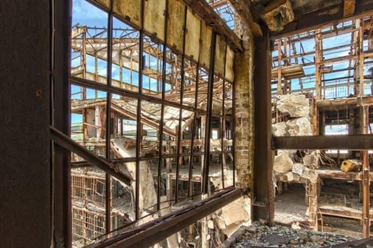The decrepit factory.