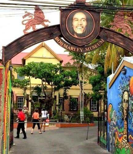 The entrance to the Bob Marley Museum in Kingston, Jamaica. Laurieanne Wysocki photos.