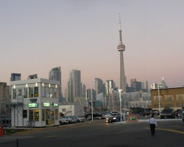 View of Toronto from Billy Bishop Island Airport, home of Porter Airlines