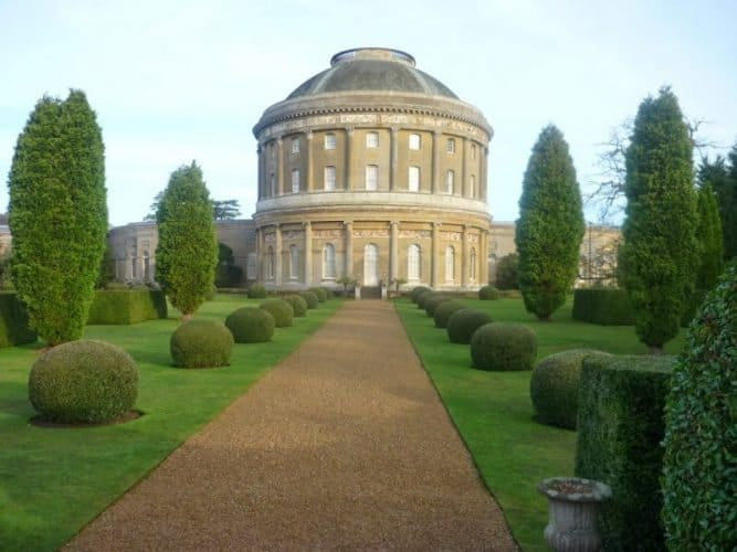 Ickworth House's Italian rotunda in Suffolk, England. Adrian Hallchurch photos.