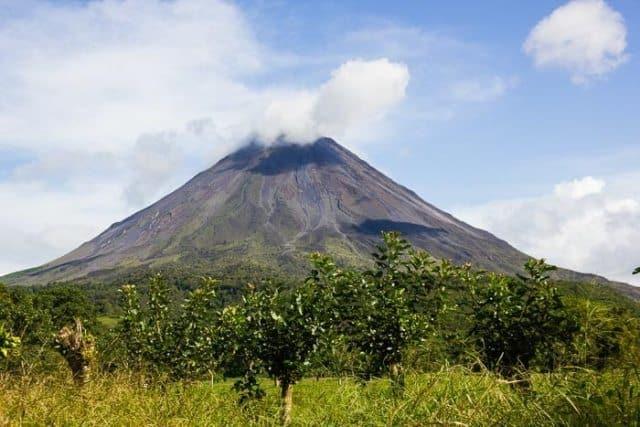The impressive Arenal Volcano.