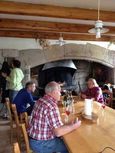 Lunch at Maison Victoire was a convivial family-style affair in front of the cavernous fireplace.