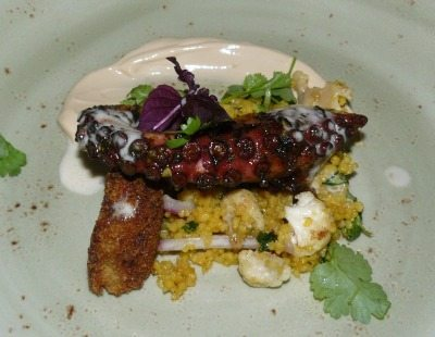 Grilled octopus at ONE