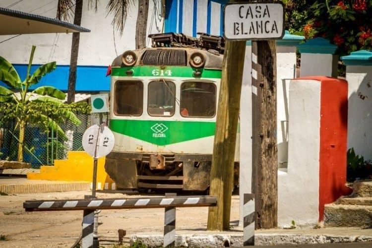 The train at Casa Blanca, Cuba. Branson Quenzer photos