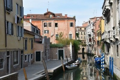 Venice's famous canals are also the back streets of the city. Cindy Bigras photo.