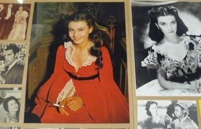 Vivien Leigh takes a smoke break in a scrapbook display at the TIFF Bell Light Box.
