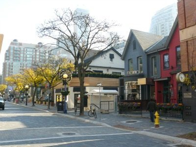 Yorkville is a comfortable blend of modern department stores and hsitoric Victorian homes converted to retail.