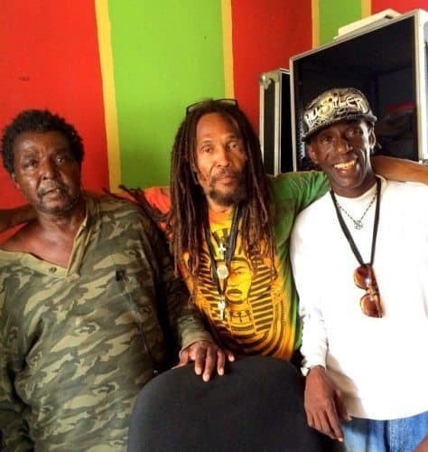"""Ziggy Soul (in the center) from the band, """"Livynkulcha' was recording a song in the Trench Town Culture Yard the day I stopped by."""