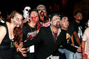 Morelia's Zombie walk brings out bloody gouls to prowl the streets.