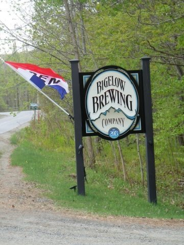 Entrance to Bigelow Brewing Company in Maine.