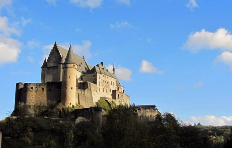 Vianden Castle in Luxembourg. Enjoy a 24 hour visit to this compact history filled European destination!
