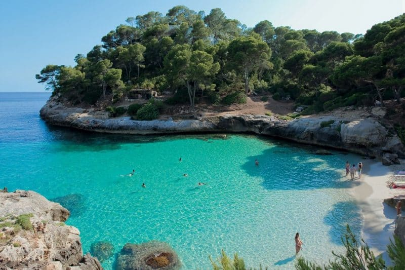 The beach at Calamitjaneta, Menorca, Spain. CN Traveler photo.