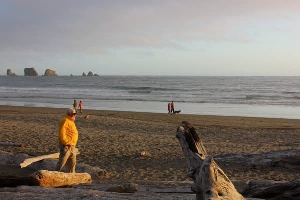 Walking the beach at La Push.