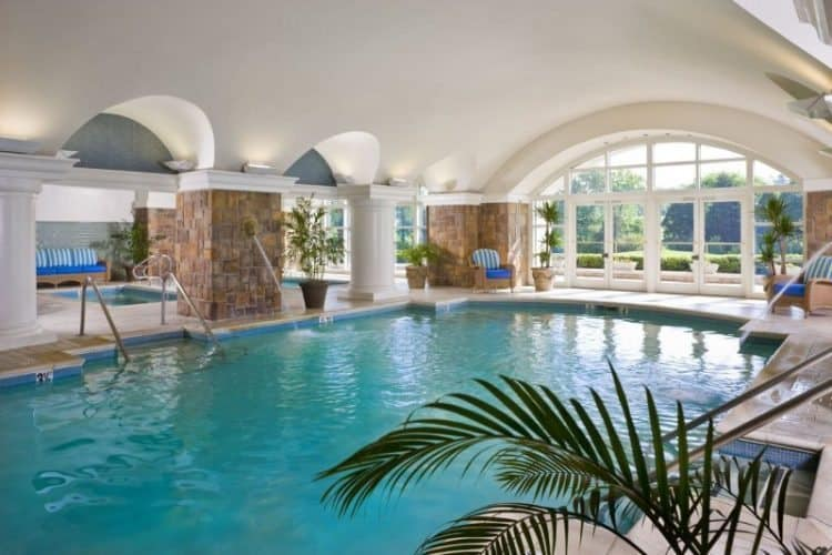 The hotel's grotto pool.