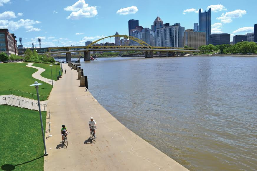 The North Shore River Walk in Pittsburgh.