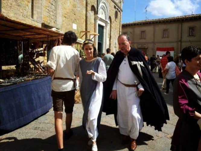 Volterra, a medieval festival, held yearly in Tuscany.