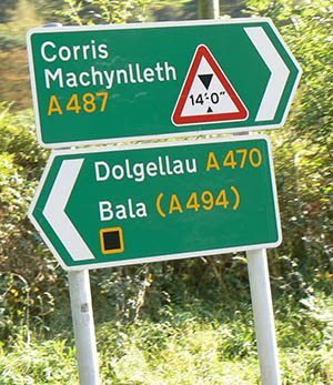 The names of places in Wales takes some getting used to.