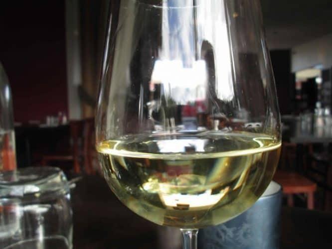 Wine at Circus restaurant.