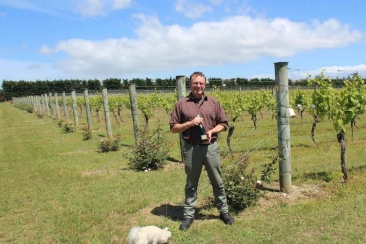 Margrain's winemaker Strat Canning Martinborough.