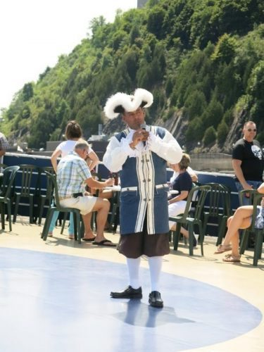 Jolliet on River Cruise, dressed like a historical figure.