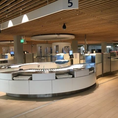 Very sleek and modern baggage inspection security checkpoints make getting through very easy versus other airports.