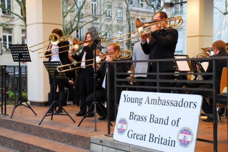 Band in Place D'Armes, Luxembourg.