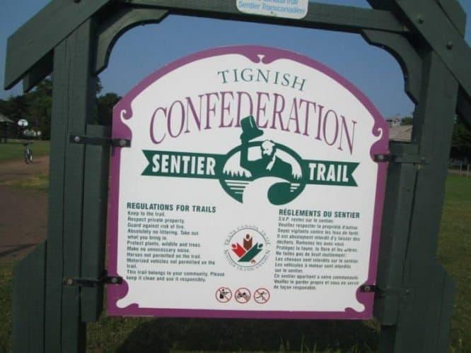 Day 1 Tignish. The start of the 273 kilometer 169 mile Confederation Trail