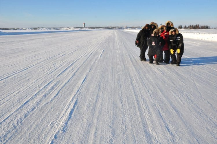 Dettah Ice Road, made famous on the TV show, Ice Road Truckers.