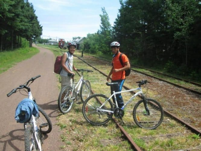 Final stretch of the 273 kilometer Confederation Trail near Elmira built from an abandoned railroad line
